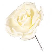 Большой декоративный цветок для фотозоны белый 22х25 см