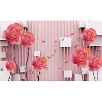 Фотообои 3д розовые розы (10461)