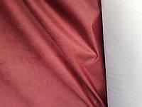 Оббивна тканина антикоготь Флок Крокус колір бордовий для перетяжки меблів виробництво Туреччина