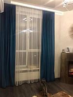 Бархатные шторы в гостиной
