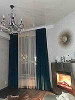 Бархатные шторы с легким тюлем