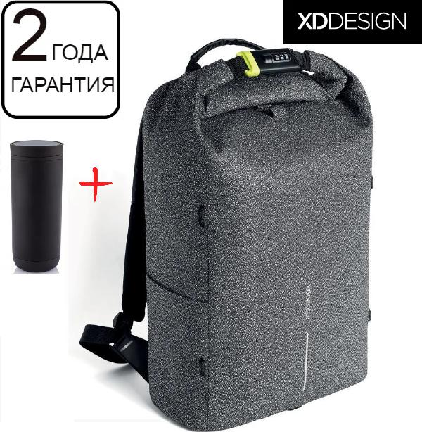 "Оригинал! Гарантия 2 года. Антивор рюкзак  для ноутбука XD Design Bobby Urban Grey 15.6"" (P705.642)"