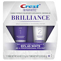 Crest Двухуровневая система отбеливания зубов 3D White Brilliance Daily Cleansing Toothpaste and Whitening Gel System