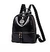 Рюкзак женский кожзам Nicole черный, фото 2