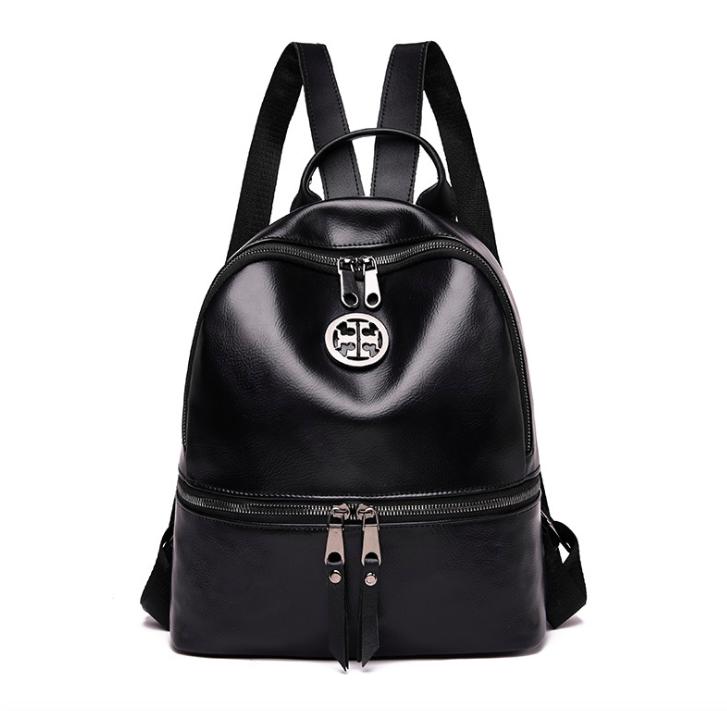 Рюкзак женский кожзам Nicole черный