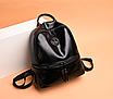 Рюкзак женский кожзам Nicole черный, фото 3