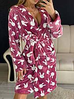 Красивый и теплый халат для дома, велсофт, фото 1