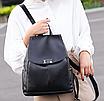 Рюкзак женский кожаный Сlassik Черный, фото 8