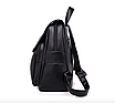 Рюкзак женский кожаный Сlassik Черный, фото 4