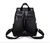 Рюкзак женский кожаный Сlassik Черный, фото 3