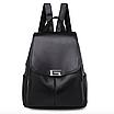 Рюкзак женский кожаный Сlassik Черный, фото 2