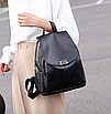 Рюкзак женский кожаный Сlassik Черный, фото 9