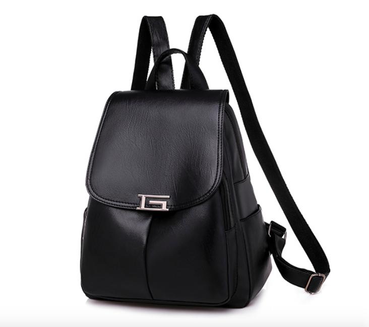 Рюкзак женский кожаный Сlassik Черный