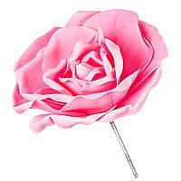 Большая роза из изолона для фотозоны розовая 22х25 см