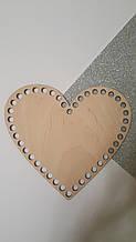 Заготовка в форме сердца 15см