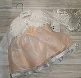 Платье нарядное+болеро+обруч на голову на девочку ар 781 Турция Fekra, фото 4