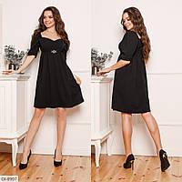 """Платье """"Бавария"""", чёрное, №196, 42-46 р."""