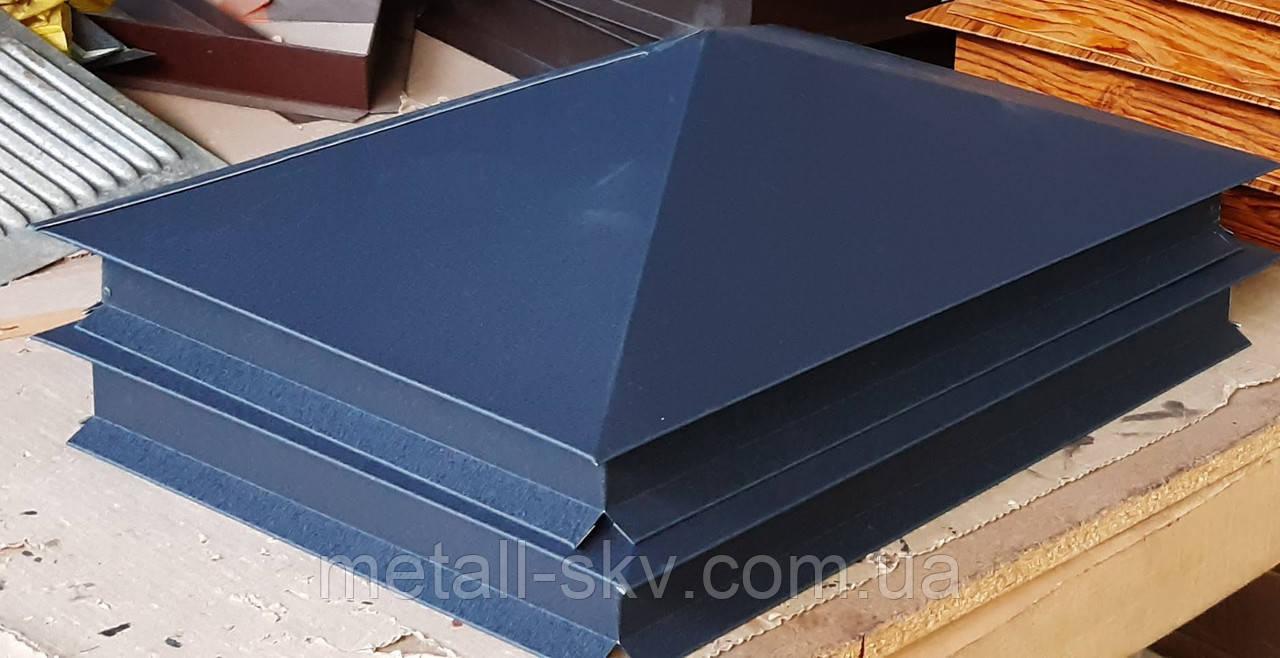 Ковпак на паркан коричневий мат.0.45 прямокутна