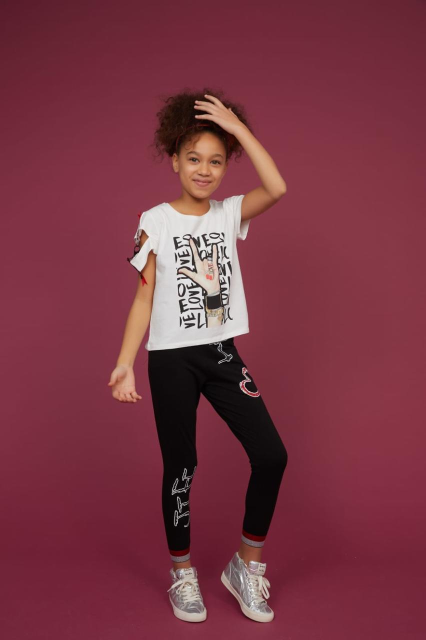 Костюм LOVE лосины с футболкой для девочек Турция Little star