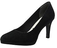 Туфли на каблуке замшевые женские Tamaris. Оригинал. Размер 38