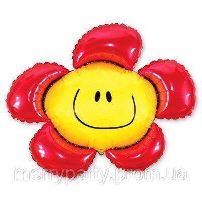 Мини-фигура 34х37 см Цветок красный Flexmetal Испания шар фольгированный