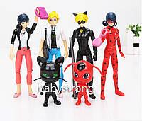 Набор фигурок Леди Баг и Супер Кот 15 см. 6 штук Miraculous Ladybug and Cat Ледибаг игрушки