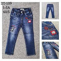 Джинсовые брюки для девочек S&D оптом, 1-5 лет. Артикул: DT109