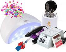 Фрезер  Lina 20000 об с Лампой SUN one 48 W и Стерилизатором кварцевым для инструментов