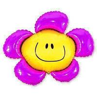 Мини-фигура 34х37 см Цветок фиолетовый Flexmetal Испания шар фольгированный