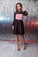 Подростковое платье на девочку со сьемной юбкой