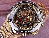 Мужские механические новые часы Winner Skeleton