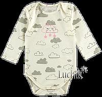 """Боди-футболка для малышей. Размер: 74. светло-молочный. TM """"ФЛАМИНГО ТЕКСТИЛЬ"""" 494-222/1. Украина."""