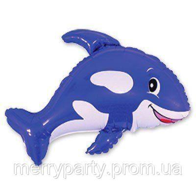 Мини-фигура 30х35 см Касатка синяя Flexmetal Испания шар фольгированный