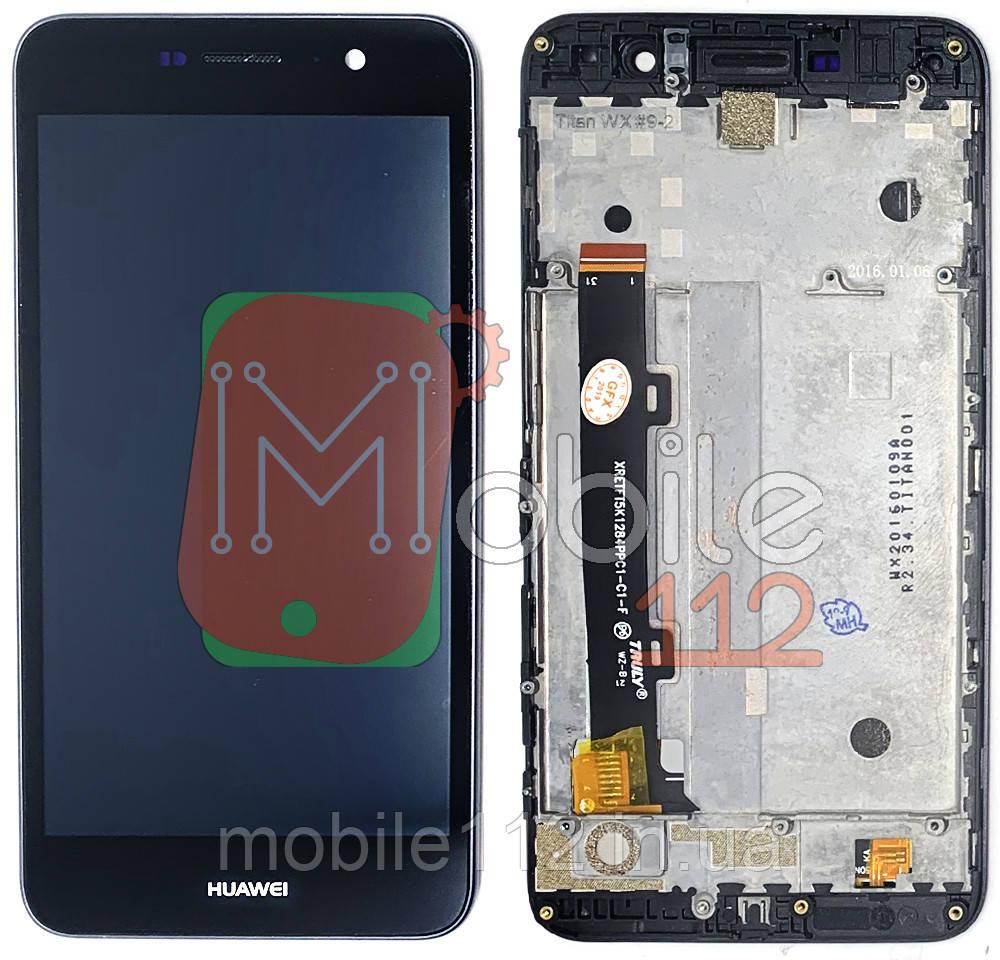 Экран (дисплей) Huawei Y6 Pro TIT-U02 Enjoy 5 HONOR 4C PRO, TIT-L01 + тачскрин черный с передней панелью
