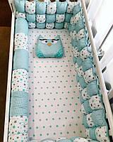 Комплект бортиков в кроватку. в стандартную/ круглую/ овальную кроватку .Цвет ткани на выбор.