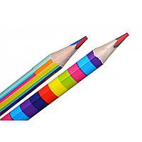 """Карандаш """"Yes"""" """"Rainbow"""" Jumbo с четырехцветным грифелем, треугольный, заточенный микс 290575"""