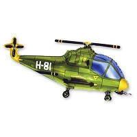 Мини-фигура 25х43 см Вертолет зеленый Flexmetal Испания шар фольгированный