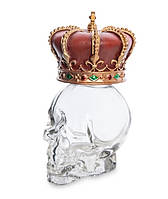 Графин декоративный Корона на стеклянном черепе Veronese WS-1029