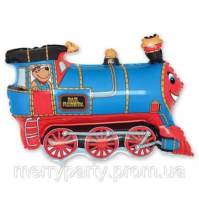 Міні-фігура 27х31 см Поїзд блакитний Flexmetal Іспанія куля фольгований