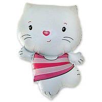 Мини-фигура 30х20 см Котенок белый Flexmetal Испания шар фольгированный