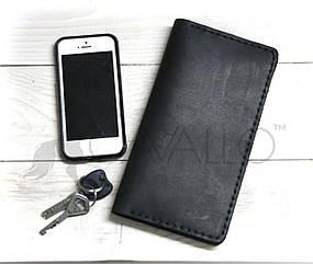 Мужской портмоне из натуральной кожи с отделением на молнии Cavallo™ Crazy Horse Classic, черный