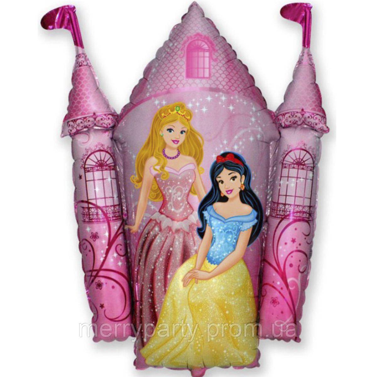 Шар фольгированный Замок с принцессами 28х27 см Flexmetal Испания