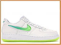 Женские кроссовки Nike Air Force 1 07 Premium 2 Jelly White Volt (найк аир форс 1 джели низкие, белые)