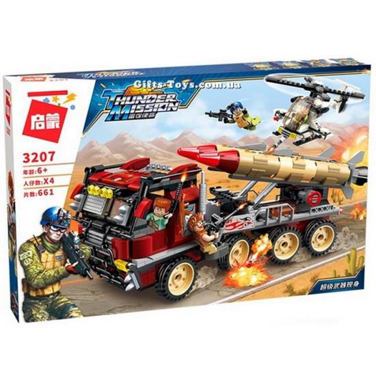 Конструктор BRICK военная машина 661 деталь, 3207