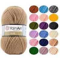 Акриловая пряжа для вязания yarnart elite Ярнарт Элит все цвета