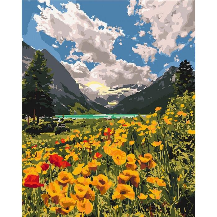 Картины по номерам Величественные Альпы / коробка 40*50   арт. КН2268