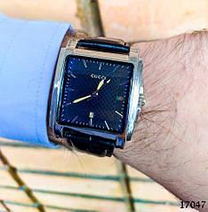 Часы мужские в стиле Gucci. Мужские наручные часы черного цвета. Часы с черным циферблатом Годинник чоловічий