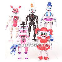Коллекция 5 ночей с Фредди 5 шт Фигурки Sister 15 СМ Большие+ Разборные на части, Фнаф Аниматроники игрушки