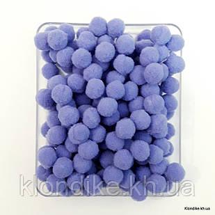 """Помпоны """"Велюр"""", 1.5 см, Цвет: Светло-фиолетовый (50 шт.)"""