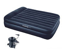 Двухспальная надувная кровать BestWay 67345 + насос